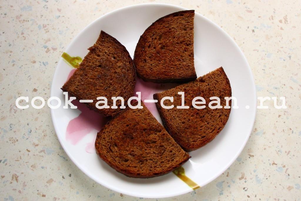 как делать гренки на сковороде