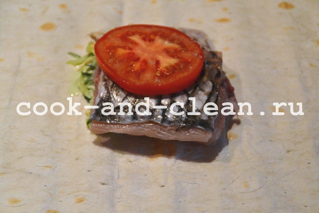 рецепт рыбы в лаваше в духовке