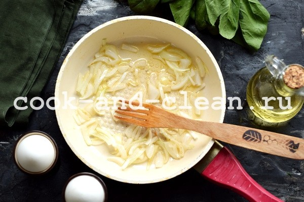 яичница со шпинатом