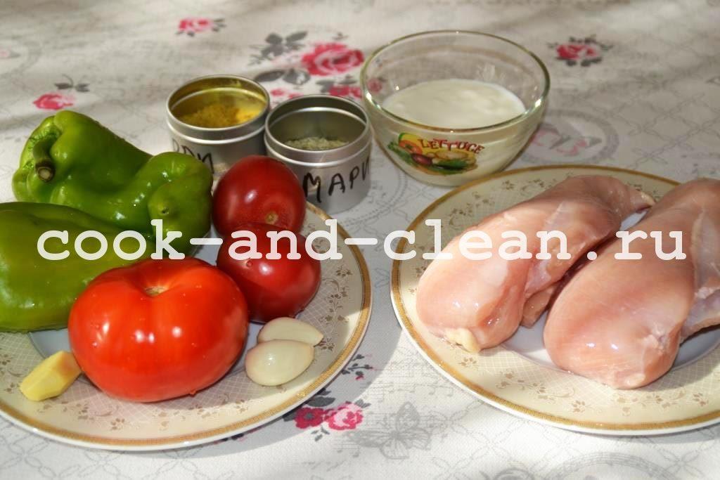 запекание курицы с овощами в духовке