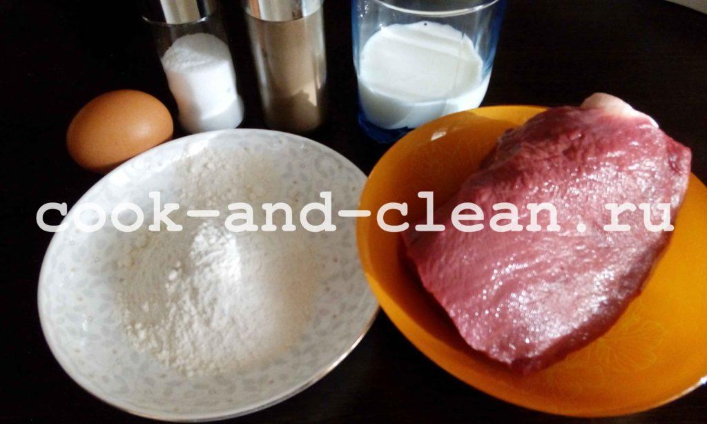 как готовить шницель из говядины