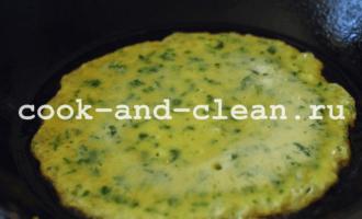 как приготовить блинчики со шпинатом