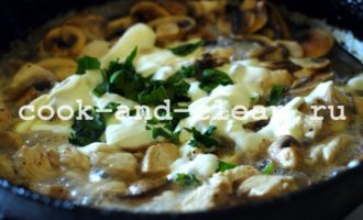 пирог из грибов и курицы теста