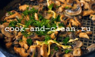 пирог с курицей и грибами из дрожжевого
