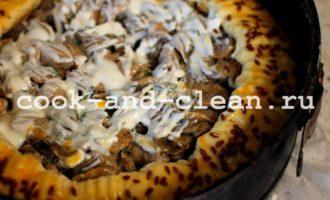 пп пирог с курицей и грибами