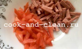 Быстрый салат из помидор