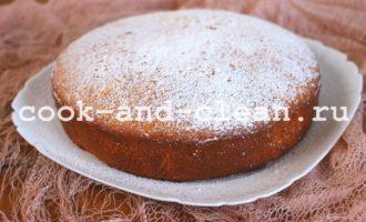 рецепт пирога с персиками консервированными в духовке
