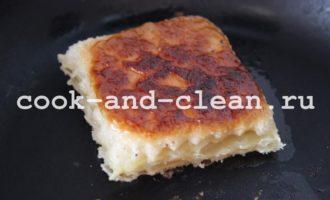 слойки жареные на сковороде