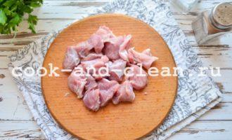 Цветная капуста с мясом в мультиварке