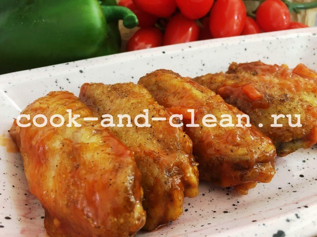 куриные крылышки в кисло сладком соусе