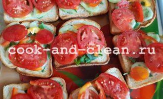 бутерброды с овощами рецепты с фото