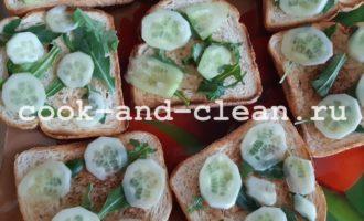 бутерброды с овощами рецепты