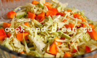 вермишель с курицей и овощами