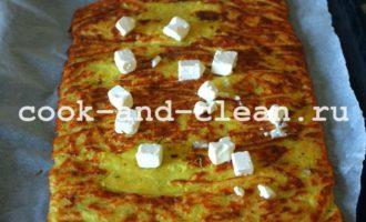 кабачковый рулет с сыром в духовке