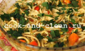 как приготовить вермишель с овощами