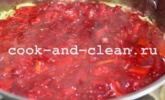 как сварить борщ с капустой и свеклой