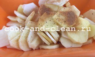 картофель запеченный в чесночном масле