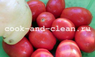 маринованные помидоры с айвой