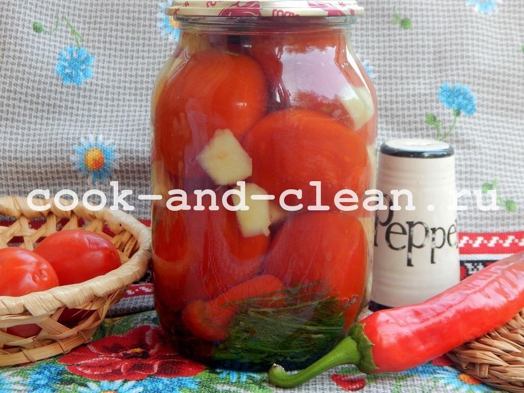 помидоры с айвой на зиму