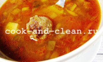 суп с фрикадельками рецепт пошагово с картофелем