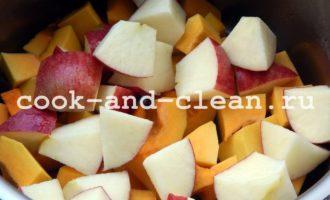 тыквенное пюре с яблоками на зиму