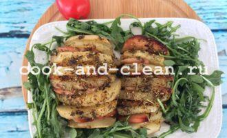 Картошка-гармошка с ветчиной в духовке