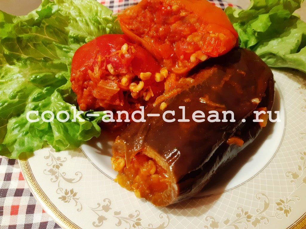 Фаршированные овощи с булгуром