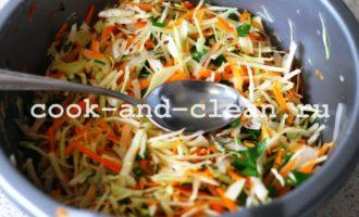 быстрый салат из свежей капусты и моркови