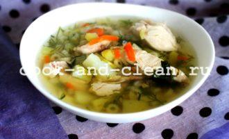 вкусный куриный суп рецепт