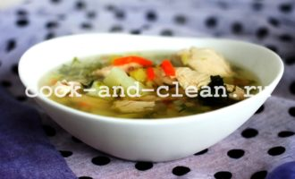 вкусный куриный суп