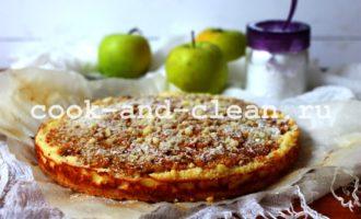 вкусный яблочный пирог с творогом