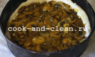 дрожжевой пирог с грибами в духовке