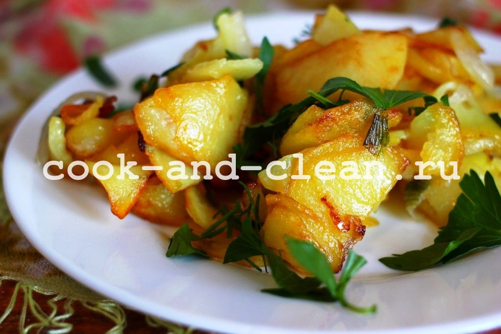 жареный картофель