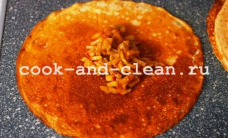 как приготовить блины с яблоками рецепт