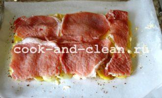 мясо по французски с картофелем и помидорами