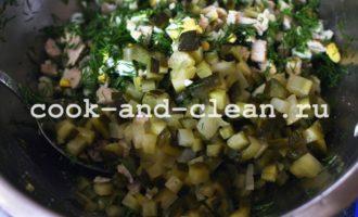 оливье с мясом фото