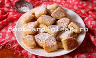 печенье из творога треугольники пошаговый рецепт фото