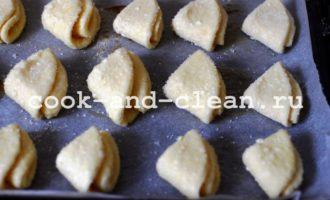 печенье из творога треугольники пошаговый фото