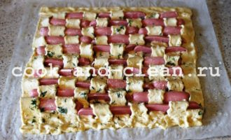 пироги с сосисками рецепт с фото
