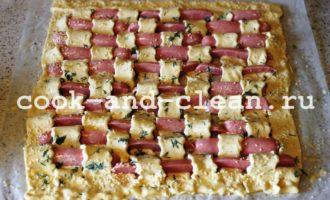 пирог с сосисками пошаговый рецепт