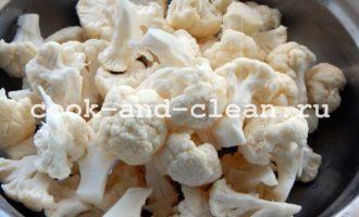 приготовление маринованной цветной капусты