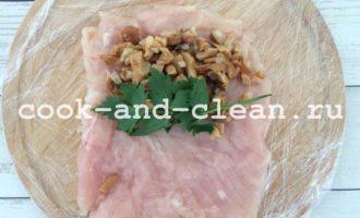 рецепт куриного рулета с грибами фото