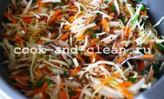 рецепт салата со свежей капустой и морковью