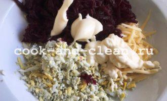 салат свекла сыр чеснок майонез