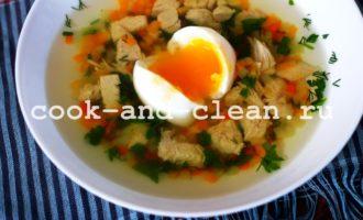 суп с куриной грудкой