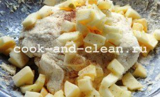 творожные булочки с яблоками рецепт фото