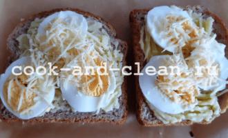 бутерброды горячие с картошкой и яйцом