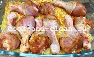 голень куриная рецепты с рисом фото