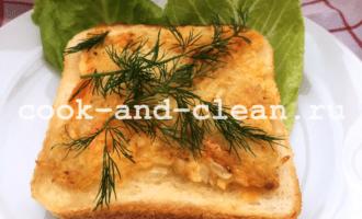 горячие бутерброды с картошкой и луком