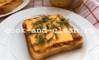 горячие бутерброды с картошкой и сыром